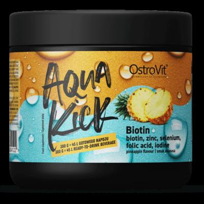 OstroVit Aqua Kick ananászos biotin vitamin italpor - 300g