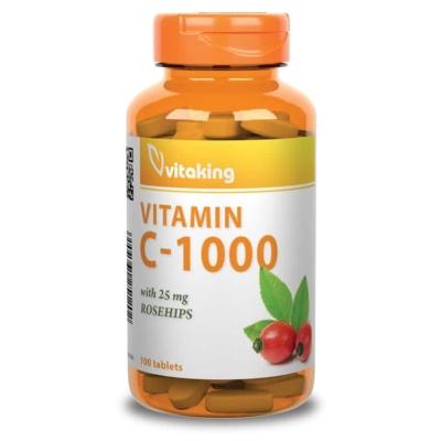 Vitaking C-vitamin 1000mg + csipkebogyó kivonat, 100 tabletta
