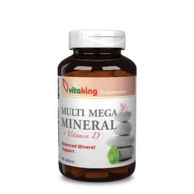 Vitaking - Multi Mega Mineral + D-vitamin - 90db