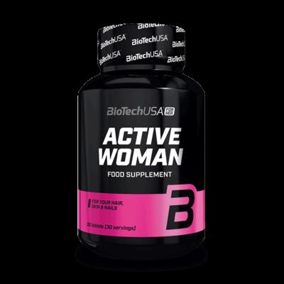 BiotechUSA - Active Woman 60 tabletta, női vitamin
