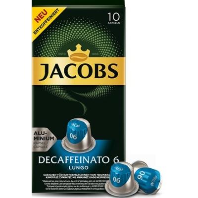 Jacobs Espresso Decaffeinato - koffeinmentes nespresso kávékapszula - 10 db