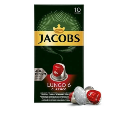 JAcobs- Nespresso - lungo 6 - hosszúkávé, 10 kávékapszula