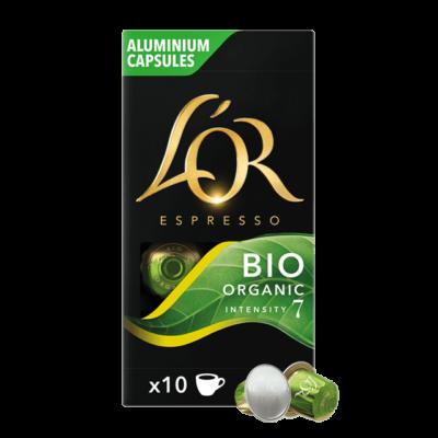 L'or Bio Organic Nespresso kávékapszula, 10db alumínium kávékapszula