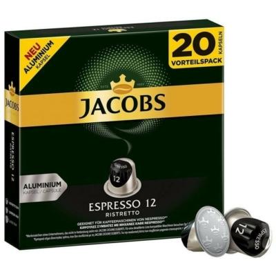 Jacobs Espresso 12 - Ristretto - 20db nespresso kompatibilis kávékapszula