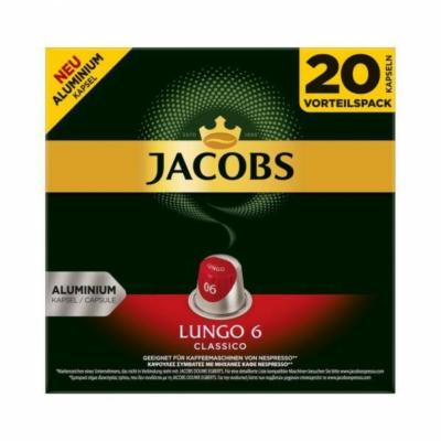 Jacobs Lungo 6 nespresso kávékapszula, 20db kávékapszula