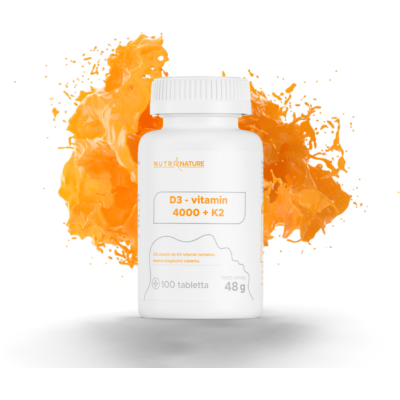 Nutri Nature - D3-vitamin 4000 + K2-vitamin - 100db