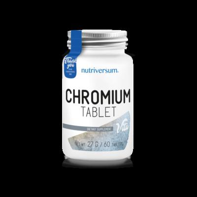Nutriversum  Chromium - Króm tabletta - 60 tabletta