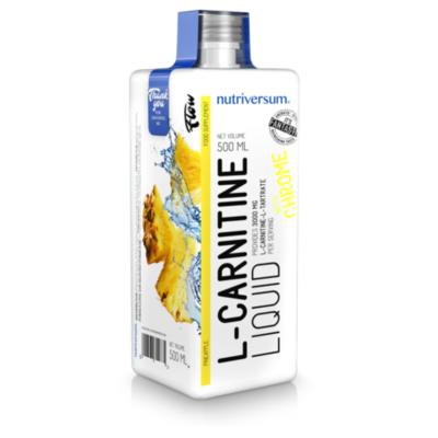 Nutriversum L-carnitine - folyékony l-karnitine - 3000mg l-carnitine, krómmal kiegészítve, ananász ízű.