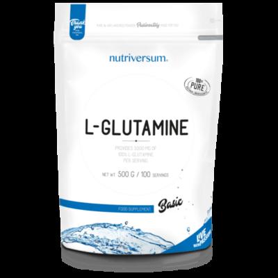 Nutriversum L-glutamin, 100% tisztaságú glutamin