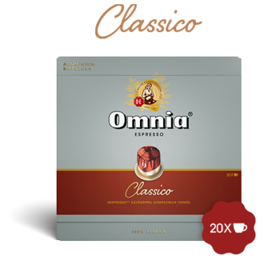 Omnia Nespresso kompatibilis kávékapszula, espresso classico, 20 kávéakpszula