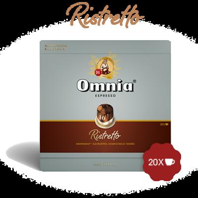 Omnia - Nespresso - Espresso Ristretto kávékapszula, 20 kávékapszula