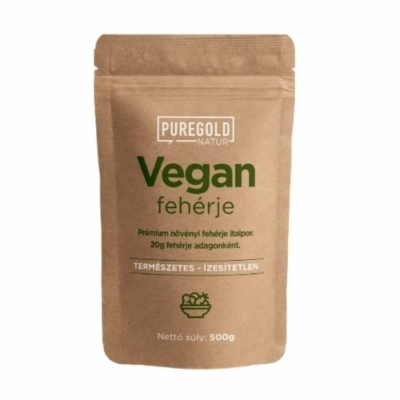 Pure Gold Protein - 100% vegán fehérje, borsó fehérje, rizs fehérje és tök fehérje, ízesítetlen növényi fehérje.