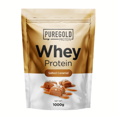 Pure Gold Protein - Whey Protein - fehérje koncentrátum, sós-karamellás ízű,  1kg