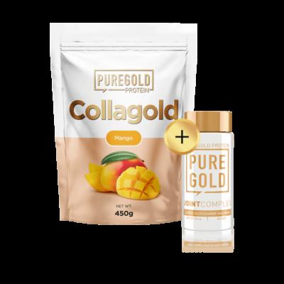 CollaGold Marha és Hal kollagén italpor hialuronsavval - 450g + ajándék
