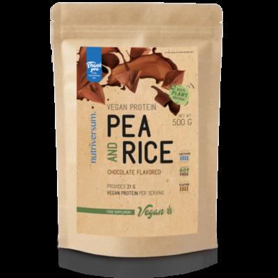 Nutriversum Vegan Protein - Pea and rice protein - vegán fehérje , zöldborsó és rizs fehérjéből - 500g