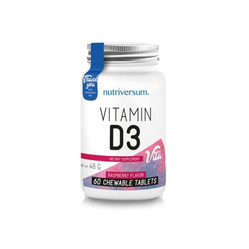 Nutriversum d3 vitamin, d vitamin rágótabletta formában