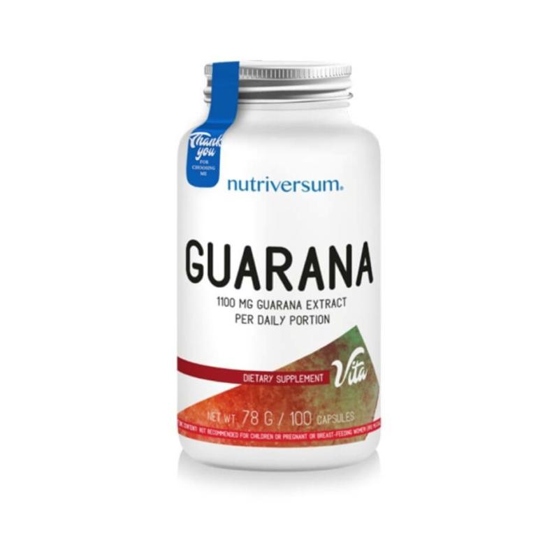 Guarana, nutriversum, koffein