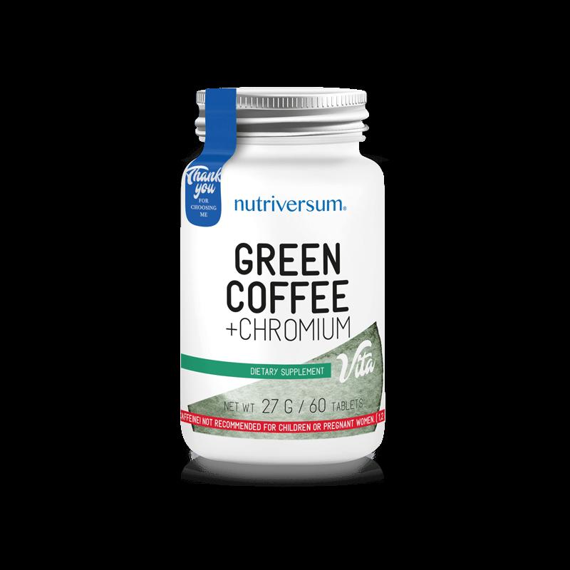 Nutriversum - Green Coffee + Chromium - Zöld kávé + króm - 60db