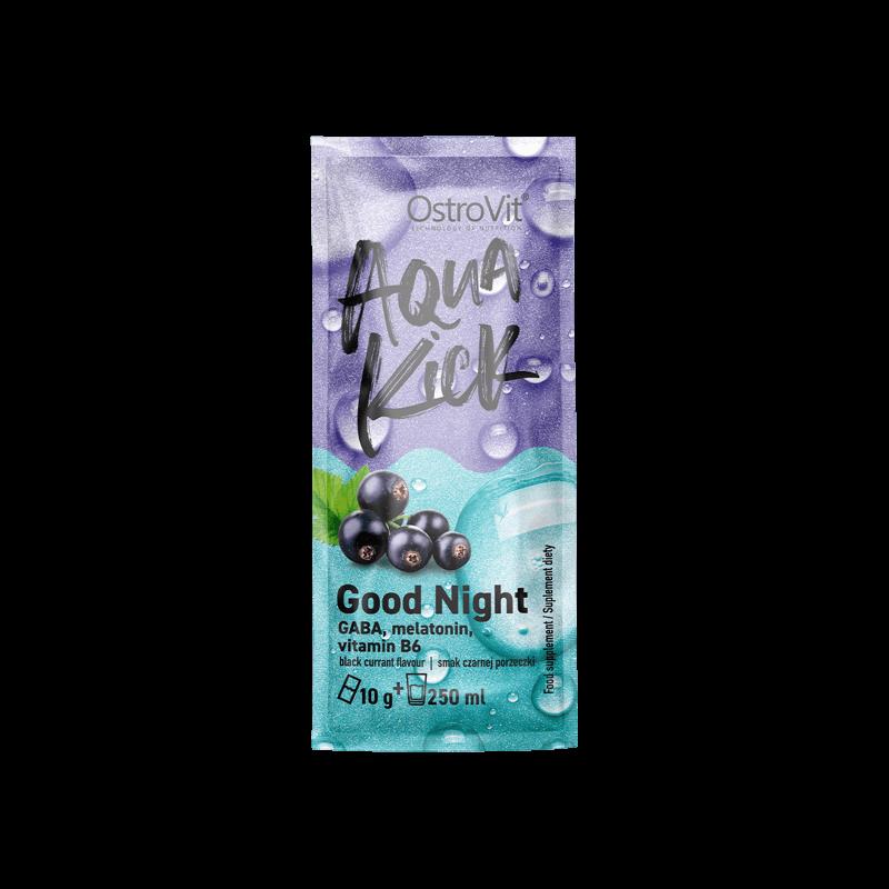 OstroVit Aqua Kick Good Night - alvást segítő ízesített italpor - 10 g