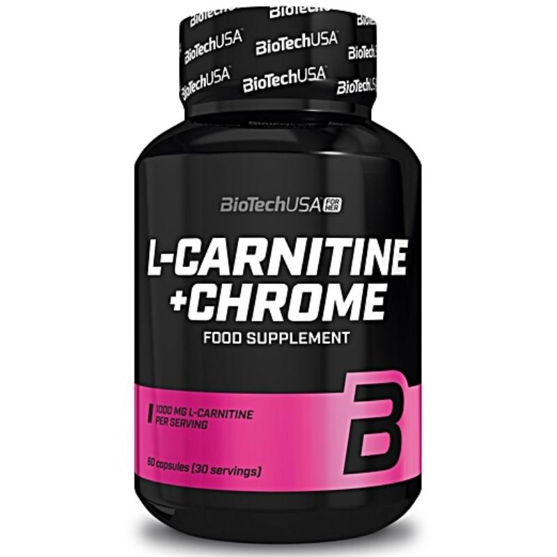 BiotechUSA - L - Carnitine + Chrome 60 kapszula