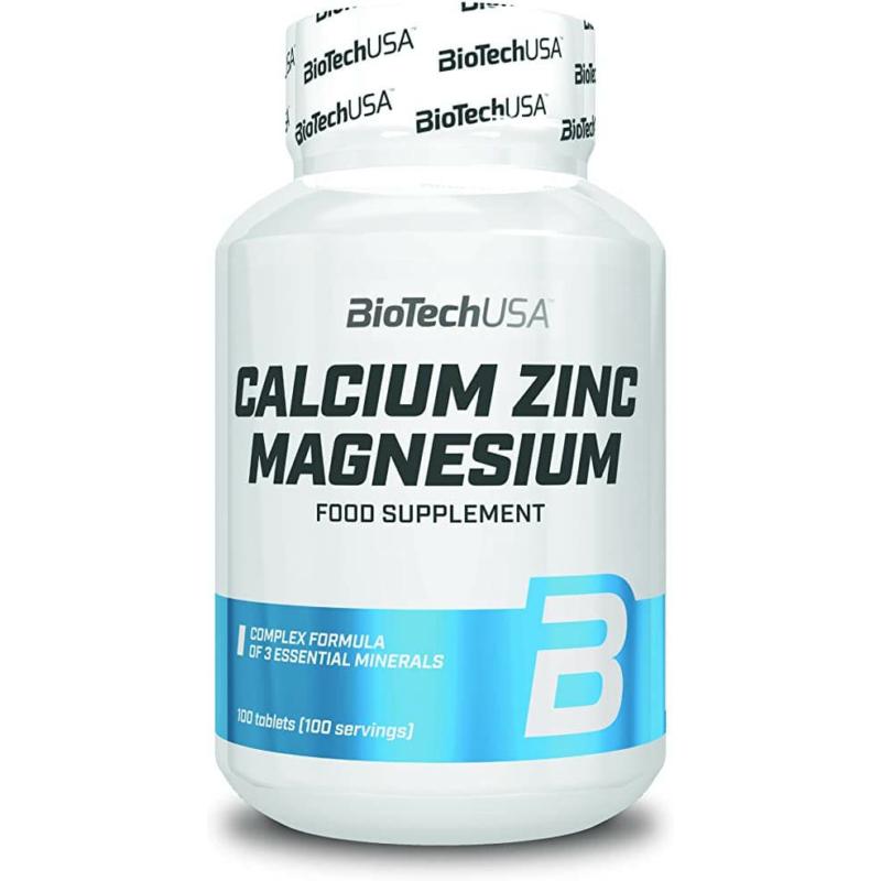 BiotechUSA - Calcium Zinc Magnesium 100 tablettaCalcium Zinc Magnesium 100 tabletta