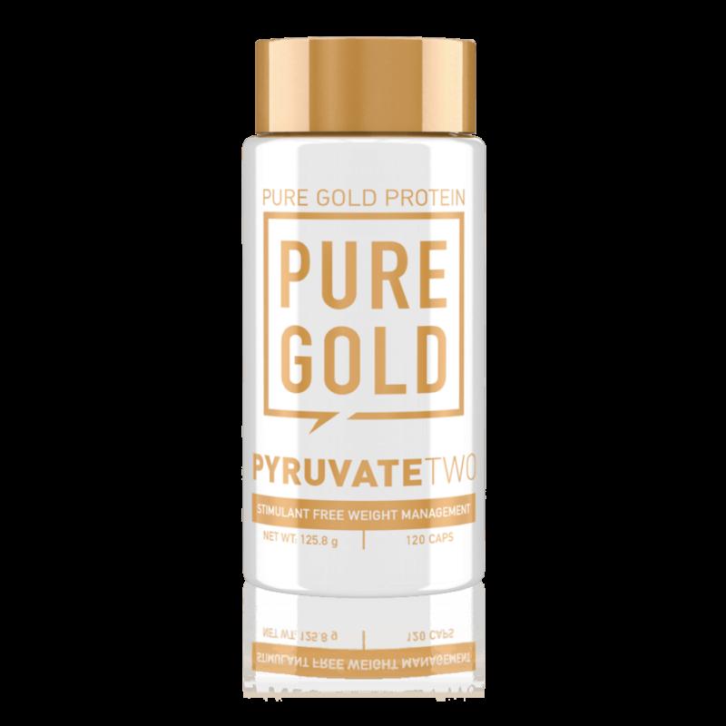 Pure Gold Protein Pyruvate (piruvát) zsírégető, L-karnitinnel (L-carnitine) kiegészítve. Stimulánsmentes diétát támogató étrend-kiegészítő. Pyruvate kapszula