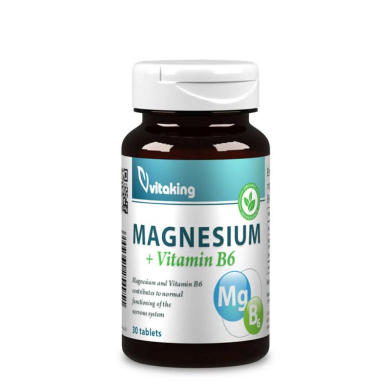 Magnézium Citrát + B6 30 adagos kiszerelés, organikus magnézium, magnézium citrát.