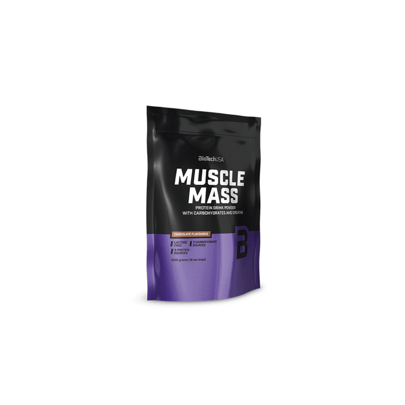 BiotechUSA Muscle Mass szénhidrát - és fehérjetartalmú italpor 1kg
