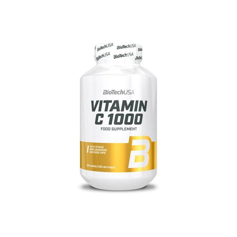 BiotechUSA C-vitamin 1000mg csipkebogyóval 100 tabletta