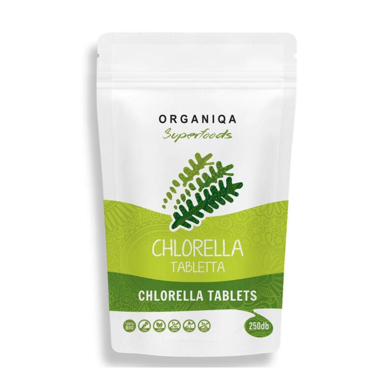 Organiqa - Chlorella por 250 tabletta