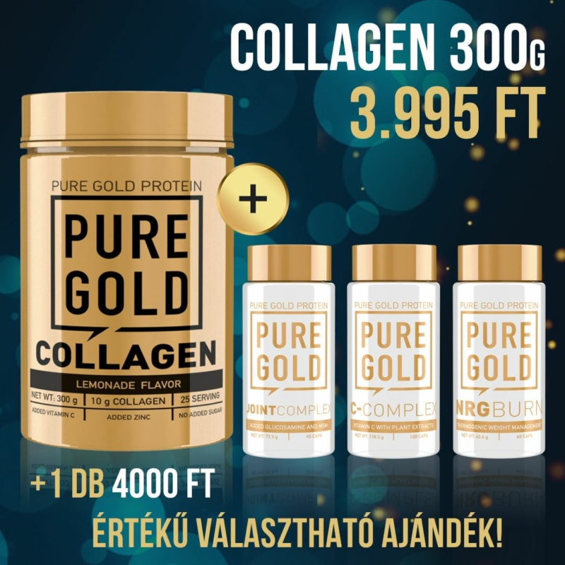 1 db Collagen 300g vásárlása esetén + 1 db C-Complex 100 caps ingyen!