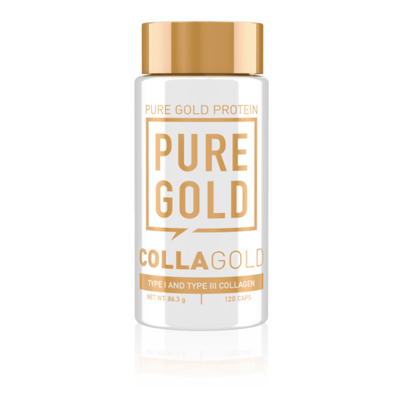 Pure Gold Protein - CollaGold - kevert kollagén, marha kollagén és hal kollagén, hidrolizált kollagén kapszula