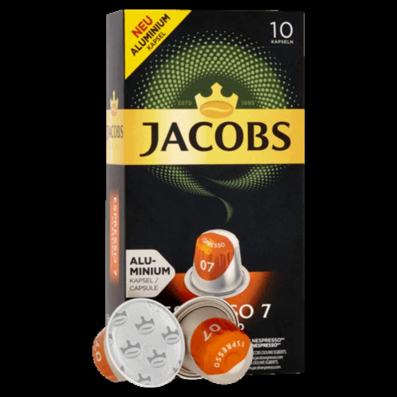 Jacobs - Espresso 7 - Nespresso kompatibilis kávékapszula - 10 kávékapszula