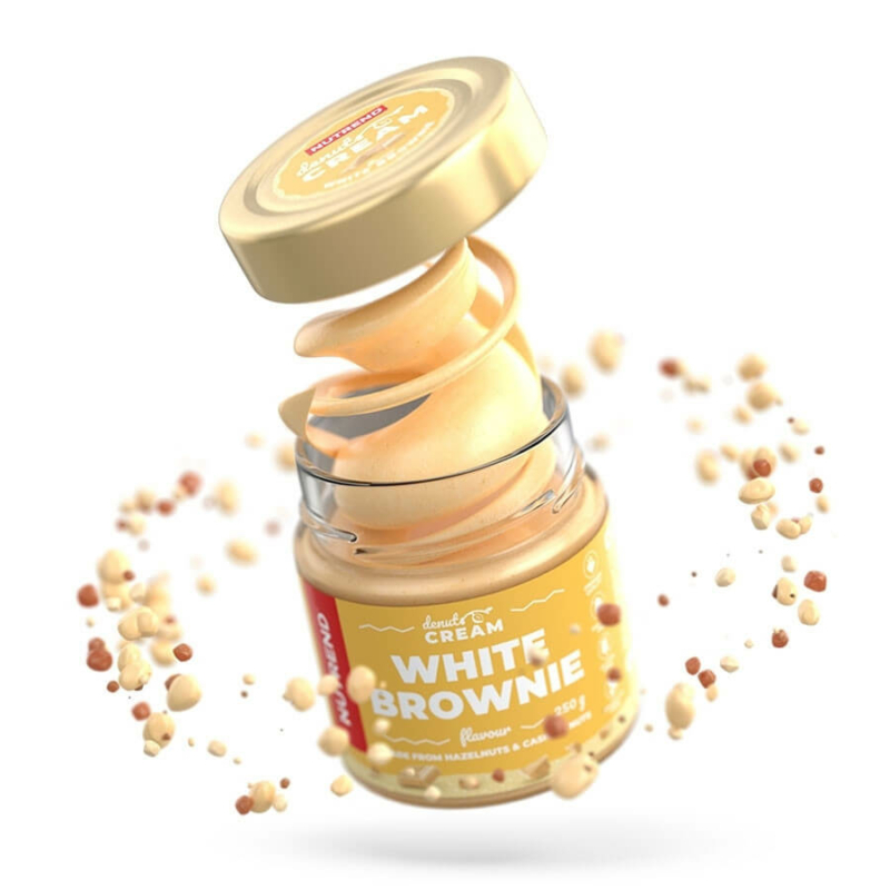 Nutrend DeNuts Cream White Brownie mogyorókrém, kesudióval 250 g