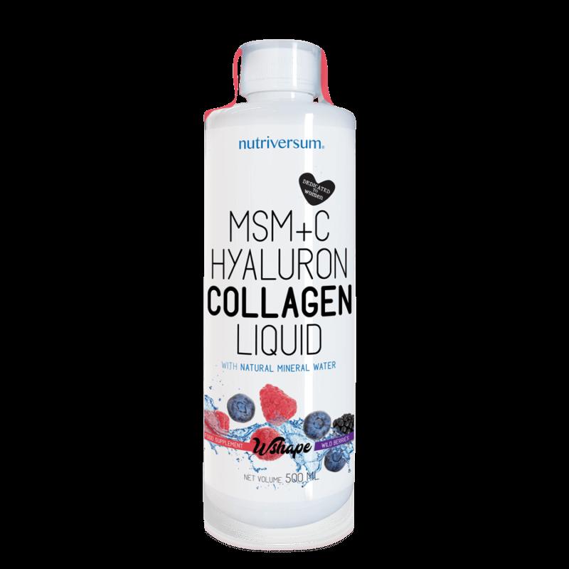Nutriversum MSM+C Hyaluron Collagen Liquid - 500 ml - Folyékony kollagén MSM-el, hialuronsavval és C-vitaminnal kiegészítve