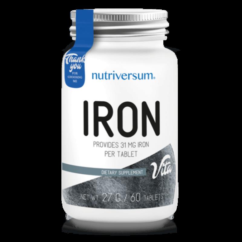Nutriversum Iron - vas késztmény - 60 tabletta