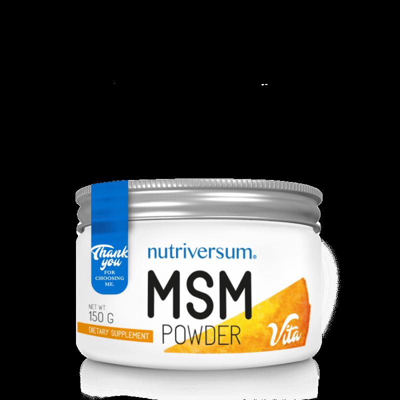 Nutriversum MSM - 150g, 100% tisztaságú MSM por.
