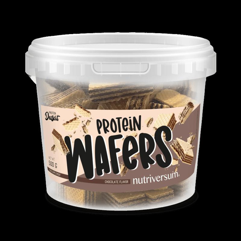 Nutriversum Protein Wafers - fehérjével dúsított, cukormentes ostya, finom ízvilágú - 500g