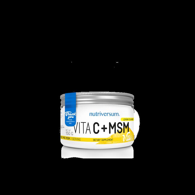 Nutriversum C-vitamin + MSM, aszkorbinsav por, gyulladáscsökkentő MSM porral kiegészítve.