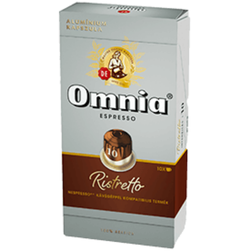 Omnia - Nespresso - Espresso Ristretto kávékapszula, 10 kávékapszula