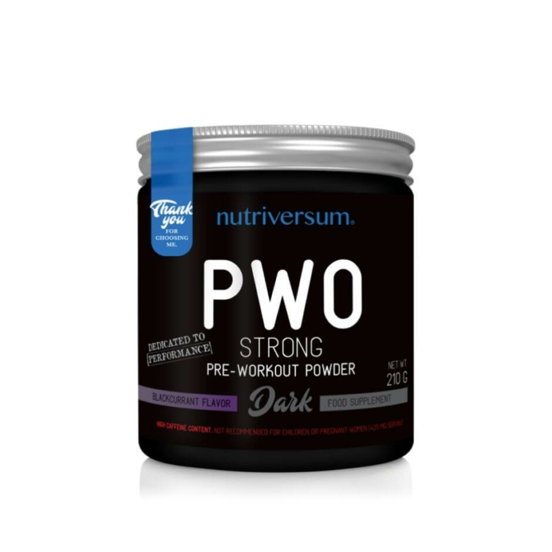 Nutriversum PWO strong - edzés előtti energizáló, pörgető