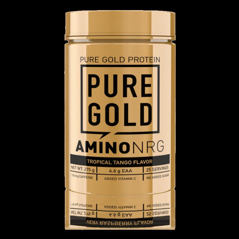 Pure Gold Protein Amino NRG - Aminosavakat, koffeint, növényi kivonatokat, valamint C-vitamint tartalmazó italpor édesítőszerekkel