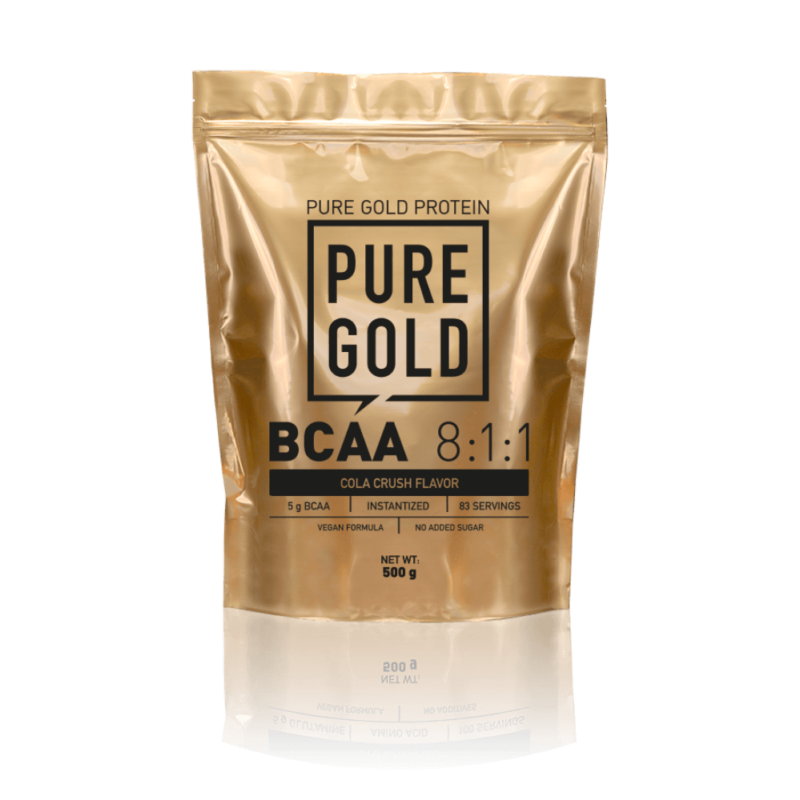 Pure Gold PRotein BCAA 8:1:1 esszenciális aminosavakat tartalmazó ízesített italpor édesítőszerekkel