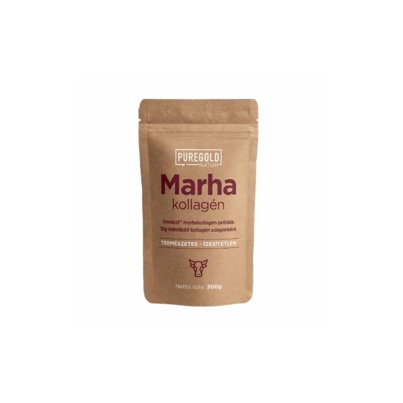 Pure Gold Protein - Natur Line Marhakollagén 300g Ízesítetlen kollagén, hidrolizált (peptid) kollagén.