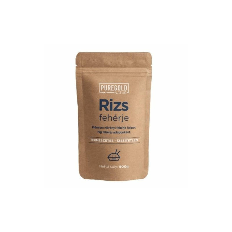 Pure Gold Protein - rizs fehérje, vegán rice protein, 100% vegán fehérje