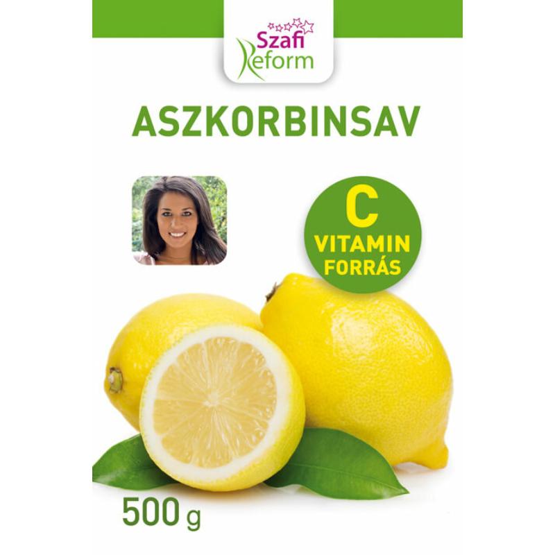 szafi aszkorbinsav - 500g - cvitamin