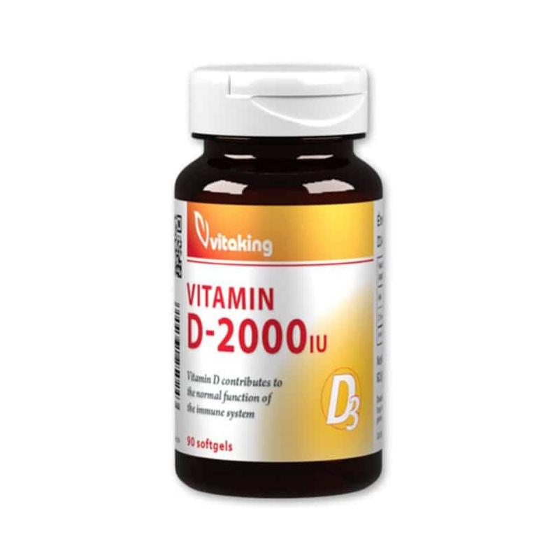 VitaKing D-vitamin 2000NE gélkapszula – 90db